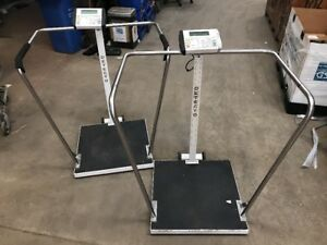 Large Capacity Digital Weight Scale 758c Cardinal Detecto 800 X 0 2 Lb Lot Of 2