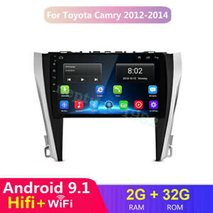 10 2 Android 9 1 Car Stereo Dvd Gps Player Radio For Toyota Camry 2012 2014