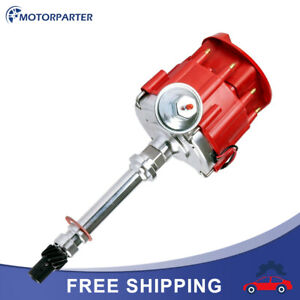 Racing Hei Distributor Red For Chevrolet Sbc 305 350 400 5 0l Small Block W coil