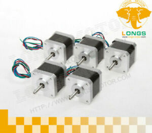 Us Free Ship 5pcs Nema17 Stepper Motor 57oz in 1m Cable W Connector 3d Printer