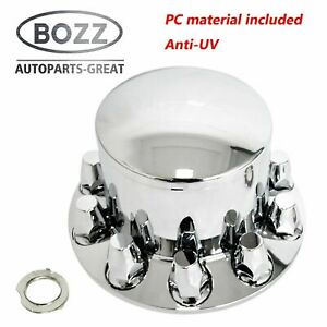 Chrome Plastic Rear Axle Cover W Removable Hub Cap 33mm Thread on Nut Cover
