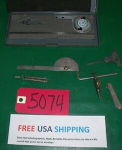 Misc Machine Shop Tools Protractor Precision starrett Indicator Free Ship