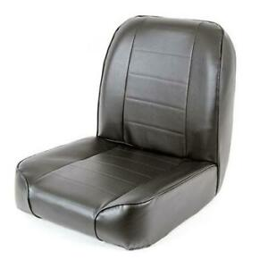 Front Seat 55 76 Jeep Cj Low Back Bucket Vinyl Black Smittybilt
