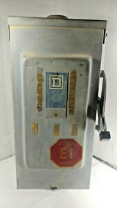 1 Used Square D 100a 600vac Safety Switch make Offer