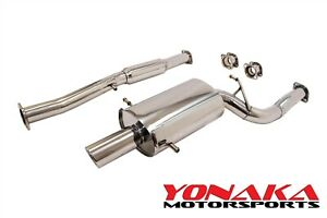 Yonaka For 04 08 Subaru Forester Xt Turbo 3 Performance Catback Exhaust 2 5l