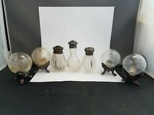 Grouping Of Sterling Antique Salt And Pepper Shakers