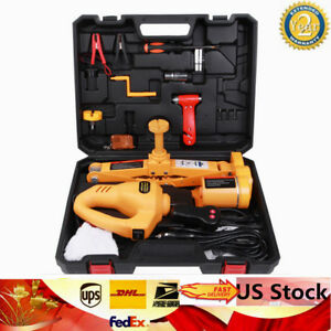 3t Electric Scissor Car Jack Plus 1 2 Impact Wrench Lifting Kit 12v