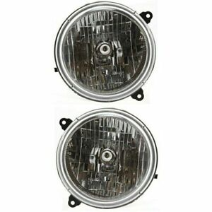 For Jeep Liberty 2002 2003 2004 Headlights Right Left Pair