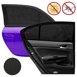 2pcs Car Rear Window Sun Visor Shade Sunshade Protection From The Glare