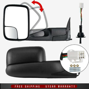 For 98 2001 Dodge Ram 1500 2500 3500 Left Right Flipup Power Heated Tow Mirrors