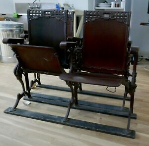 Antique Double Theater Seat