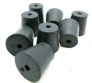 Solid Rubber Stoppers 1 Hole Tapered Plug Bungs Various Sizes 10 Per Package