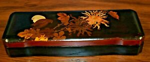 12 Antique Chinese Hand Painted Lacquer Brush Box Calligraphy Japanese Asian