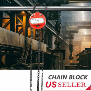 Portable 1 T Chain Puller Block Fall Chain Lift Hoist Hand Tools Chain With Hook