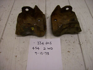 1974 74 Chevy 454 400 350 Clamshell Engine Motor Mount Brackets 334605 Dated Gmc
