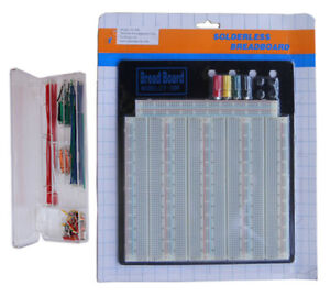 Tektrum Solderless 3220 Tie points Experiment Plug in Breadboard Kit solid Wires