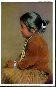 NEW MEXICO ZUYAH-CHEE A NAVAHO CHILD UNUSED FRED HARVEY (451 $7.00