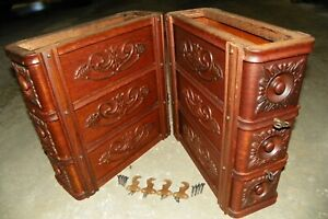 Antique Singer Treadle Sewing Machine Ornate Drawers And Frames 1910