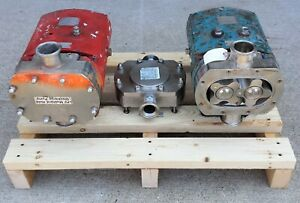 lot Tri clover Rotary Lobe Positive Displacement Sanitary Pumps Tcip3nld