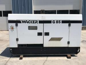 __83 Kva Wacker Generator Set Sound Attenuated Base Fuel Tank Rental Grade
