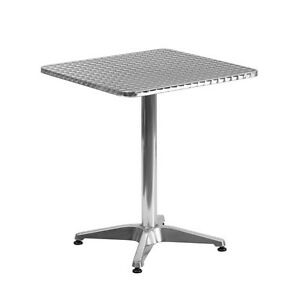 23 5 Square Aluminum Indoor outdoor Restaurant Dining Table With Metal Base