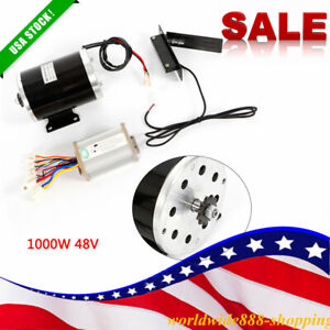 1000w 48v Dc Electric Motor Kits Base Speed Control For Scooter E bike Cart