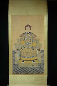 Very Large Old Chinese Paper Painting Emperor Of Qing Dynasty Image
