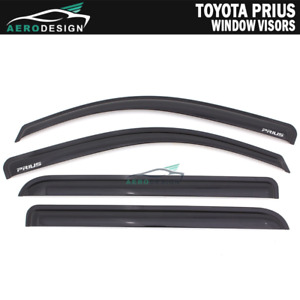 For 10 15 Toyota Prius Slim Style Window Visor Smoked Rain Sun Shade Deflectors