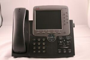 Lot 5 Cisco 7975g Voip Ip Office Phones W Stands And Handsets