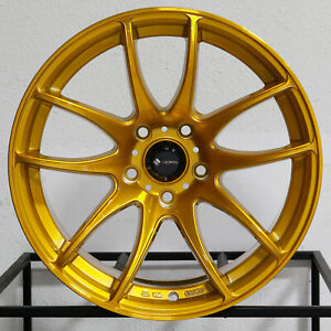 4 new 18 Vors Tr4 Wheels 18x8 5 18x9 5 5x120 35 35 Candy Gold Staggered Rims