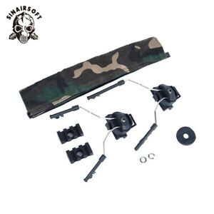 Tactical FAST Helmet Rail Adapter Set Peltor Comtac Headset Ops-Core ARC Airsoft