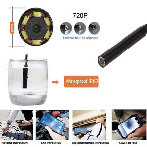 Car Hd 720p Wifi Borescope Inspection Endoscope Snake Tube For Iphone Andr