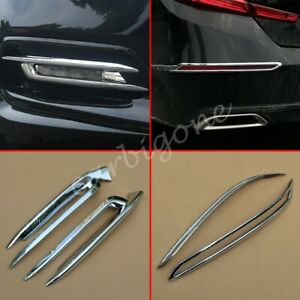 Chrome Front Rear Fog Light Cover Trims Overlay For Honda Accord 2018 2019 Parts