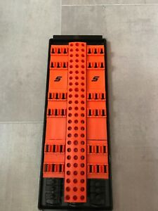 Snap On Storage Tray Hold Screwdriver Bits Extensions Twist Lock In Orange New