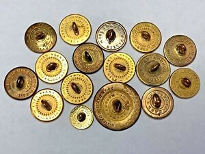 1820s 1840s Golden Age Colonial Button Lot W Makers Marks 1