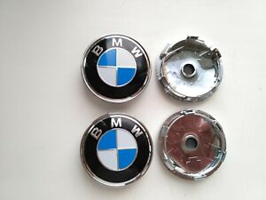 4x 60mm Alloy Bmw Emblem Logo Badge Hub Wheel Rim Center Cap
