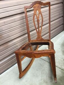 Michigan Chair Company Antique Wooden Rocking Chair Made 1905 1910