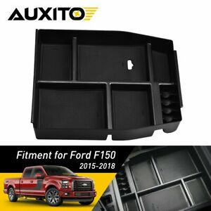 Center Console Storage Organizer Tray Box Armrest For Ford F150 2015 16 17 2018
