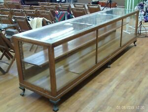 Vintage Oak Glass Display Case