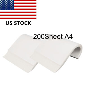 200pc A4 Sublimation Ink On Heat Transfer Paper For Inkjet Printer Mug Cup Phot
