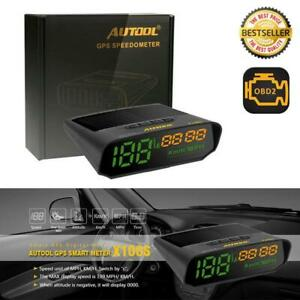 Autool X100s Universal Car Solar Digital Meter Gps Speed Distance Altitude Hud