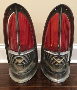 1955 1956 Packard Tail Light Bezel And Lenses Patrician Carribian 400