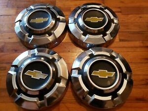 1969 1975 Chevy Chevrolet Truck Dog Dish Stainless 1 2 Ton 10 5 Hubcaps Nice