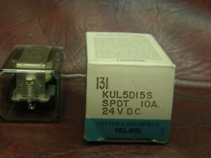 Kul5d15s 24 Potter Brumfield Latching Relay Coil 24vdc Contacts Spdt Nos