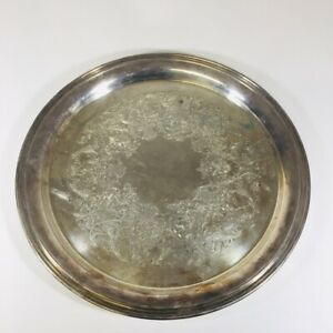 Vintage International Silver Company Concord Round Silver Serving Tray Platter