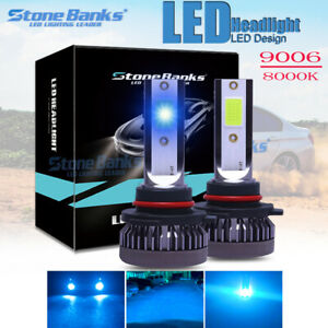 2x Bulbs 8000k Ice Blue Lamp Headlight Kit 9006 Hb4 High Low Beam Led Fog Light