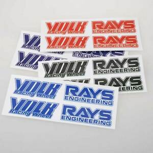 Jdm Japan Rays Engineering Volk Racing Te37 Wheel Decals Sticker