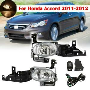 For 2011 12 Honda Accord Driving Fog Lights Complete Kit Lamps bulbs switch wire