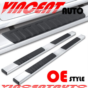 For 09 14 Ford F150 Super Crew Cab 5 Running Board Nerf Bar Side Step S S H