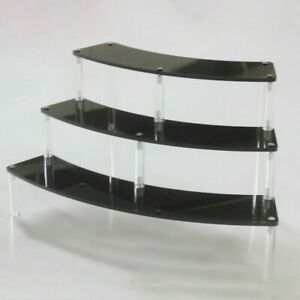 Acrylic Display Stand Three Layers Removable Curve Arc Perspex Shelf Stands Rack